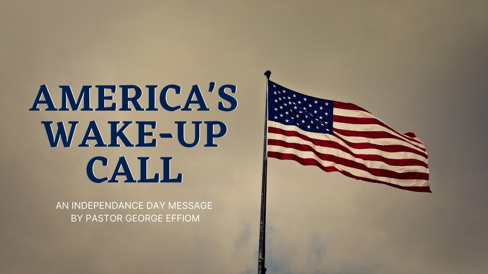 America's Wake-Up Call